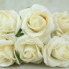 front view of the ivory foam rose bunch