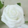 single foam rose stem (white)