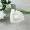 Single Ivory Curled Foam Rose