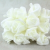 Ivory Curled Foam Rose With No Foliage And Ivory Stems
