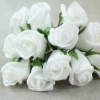 White Face On Photo Of Our Curled Foam Rose