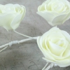 Ivory Foam Rose Garland