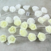 Ivory & White Foam Rose Garlands