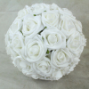 White With Green Foliage 23cm Pomander Ball