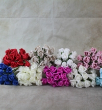 Artificial Flowers.  Small foam Rose 3cms sold as bunches of twelve