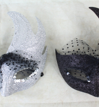 3 x Glitter Flash Ball Masks
