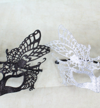 12 x Glitter Filigree Masks