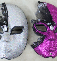 3 Full Face Decoration Masks Per Purchase. 2 Colours Available.