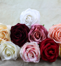 9cm Flocked Velvet Tea Rose With Stem