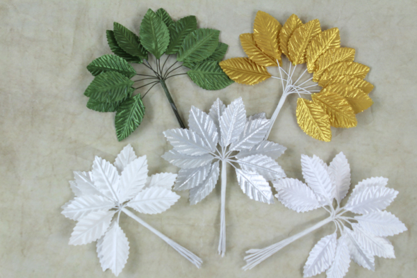 5 Different Colours Of Our Satin Leaves