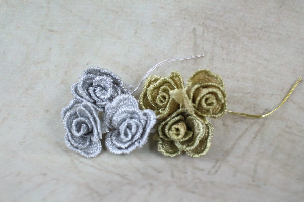 2cm Vintage Mesh Rose Bunches