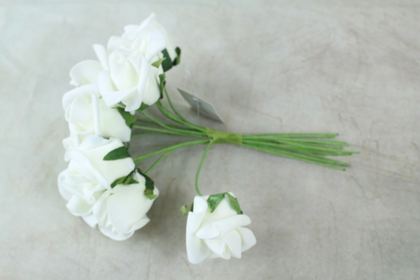 Top Down View Of Our Ivory Curled Rose Bunch
