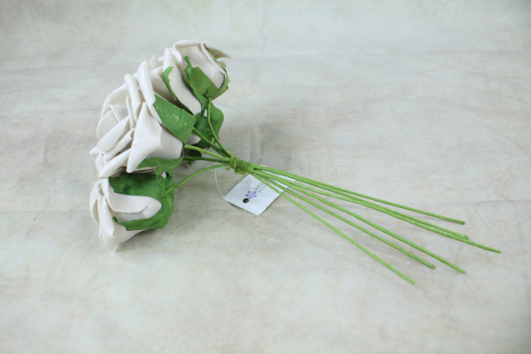 Beige With Green Stems