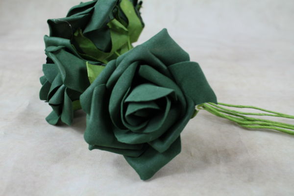 Bottle Green With Green Stems