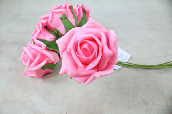 Candy Pink with Green Stems
