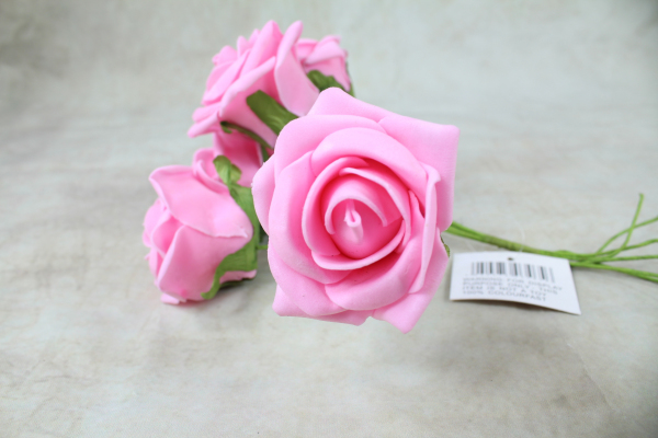 Dark Pink With Green Stems