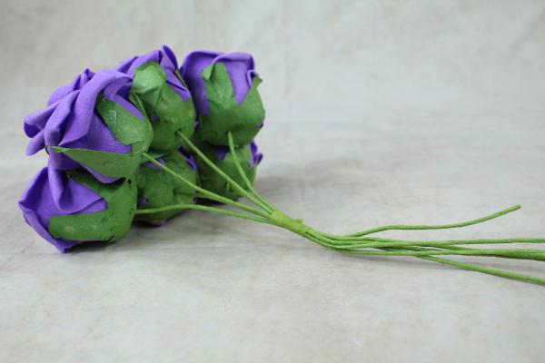 Deep Purple With Green Stems