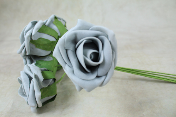 Grey With Green Stems