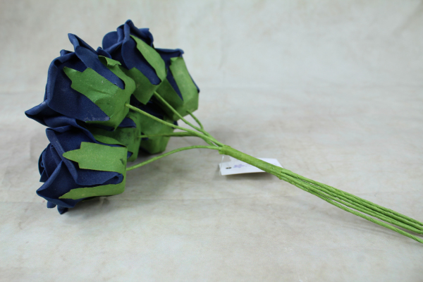 Navy With Green Stems