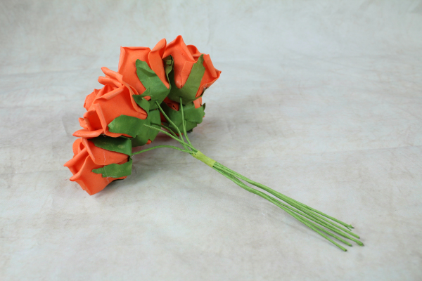 Orange With Green Stems