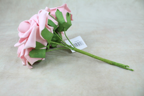 Vintage Pink With Green Stems