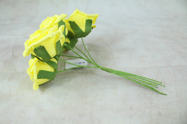 Yellow With Green Stems