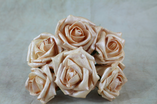 Pearlised Foam Rose Bunches