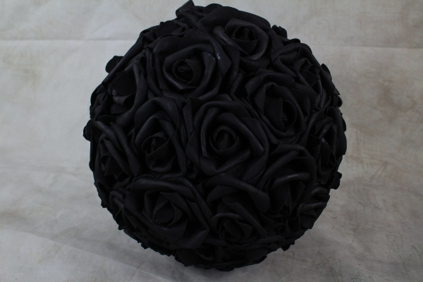 Black With No Foliage 23cm Pomander Ball