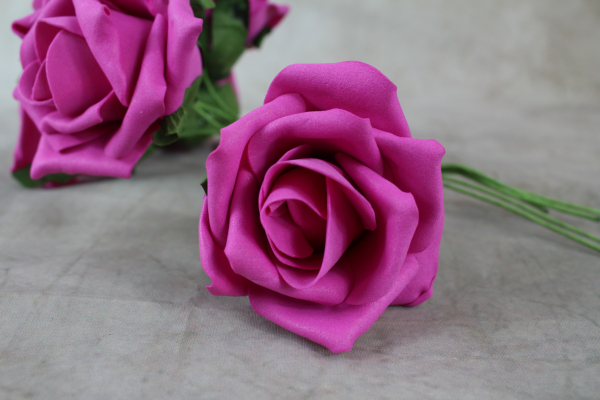 Fuchsia Foam Rose