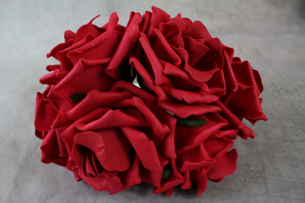 Red Curly Foam Roses