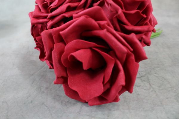 Ruby Curly Foam Roses