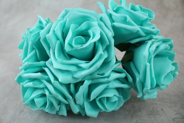 Tiffany Blue Curly Foam Rose