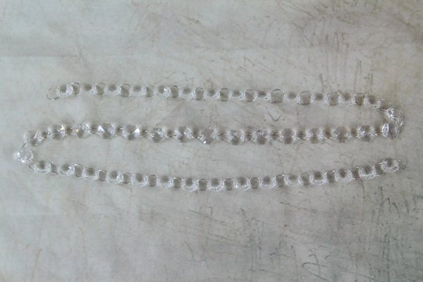 WFCJ0159 Clear Acrylic Diamond Chain