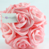 Pink foam Rose Pomander - Use the 360 image tool to see the quality.