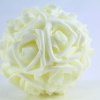 Ivory on Ivory foam Rose Pomander with matching ribbon.