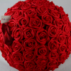 32cm Red foam Rose Pomander images in 360 view.