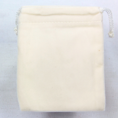 Velvet fininshed Ivory coloured bags and packs of 5