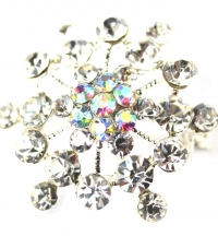 Snow Flake Diamante Brooch.