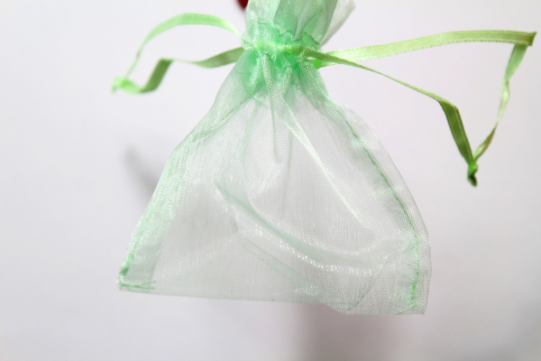 Our mint coloured Organza Bag - wedding favours.