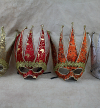 4-x-xmas-print-jester-masquerade-mask-party-pack