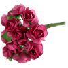 Fuchsia Paper Tea Rose Bunch
