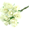 Ivory Paper Tea Rose Bunch