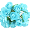 Turquoise Paper Tea Rose Bunch