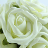Ivory foam Rose Pomander with greenery