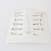 12 Packets of 12 4mm Rhinestone Pins On Card  2 Colours