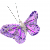 Purple Butterfly on steel wire stalk for cake making and decoration.