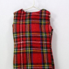 The back of the miniature Tartan waistcoat from WFC UK