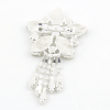 Diamond Star with Trails Brooch Back