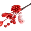 Red Mini Metal Rose Stem