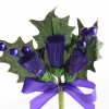 Our quality large thistle heads with beads and ribbon